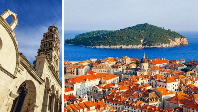 Historical towns of Split and Dubrovnik, Croatia