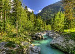 La vallée de la rivière Soča